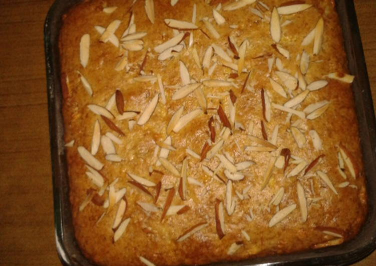 Banana & Apple cake without eggs and oil