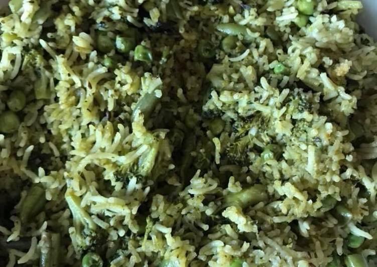 Recipe of Ultimate Green pilau