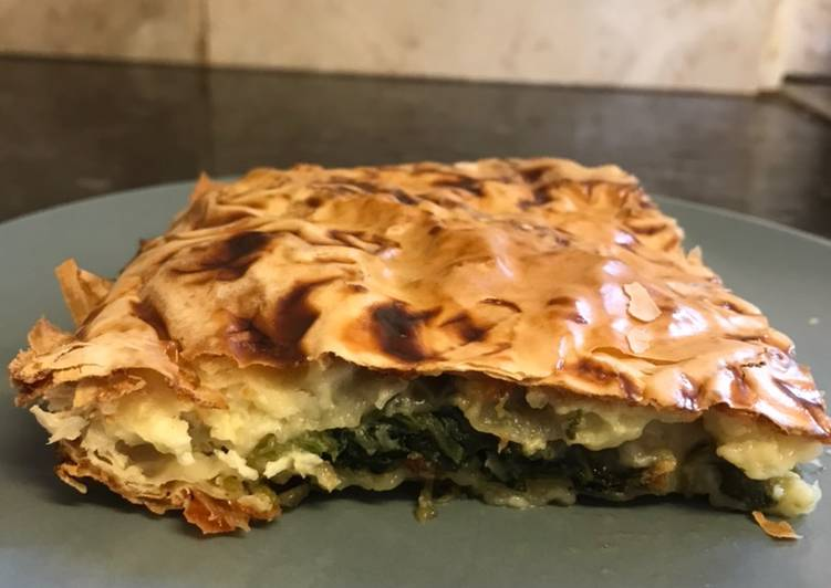 Turkish style Spinach and Cheese Borek