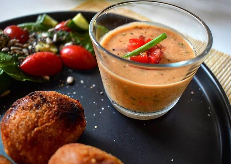 Guide étape par étape pour Préparer Fait maison Gaspacho tomate/pesto 🍅