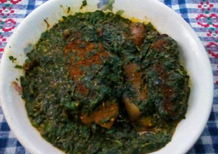 Seafood jute mallow(ewedu) soup