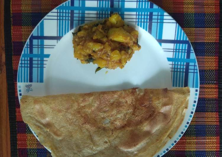 Healthy Mix Dal dosa(no rice, no fermentation)