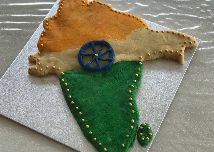 Independence day Almond fudge cake