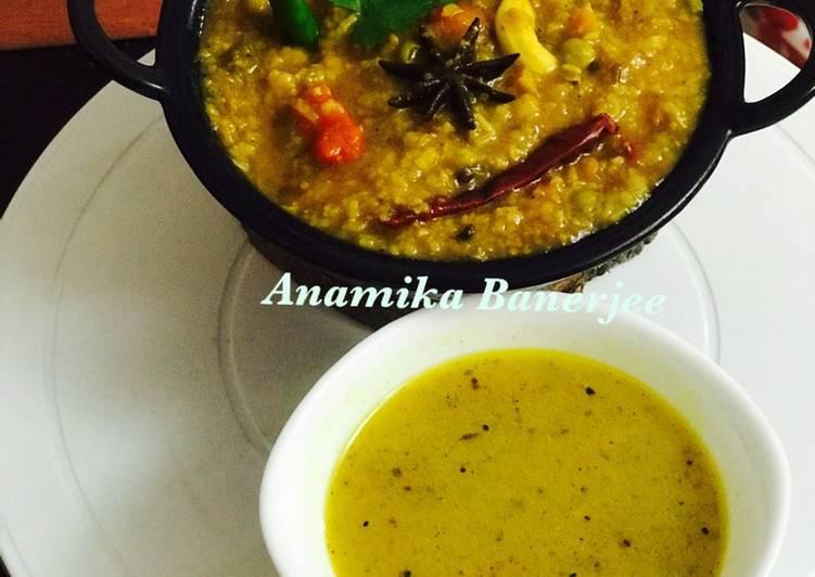 Recipe of Any-night-of-the-week Veggies-Paneer-Panchmel Dal Khichdi