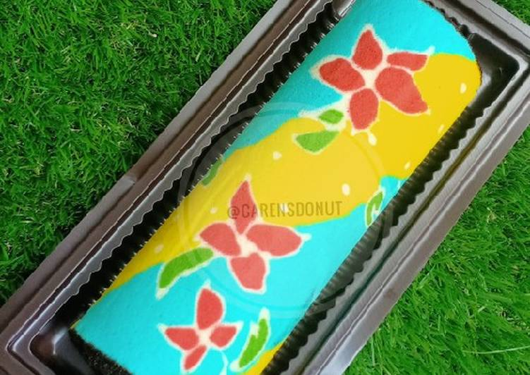 Resep Batik Roll Cake Kukus yang Lezat