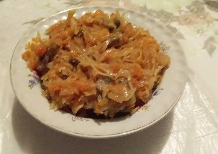 что мордовская кухня рецепты капуста тушеная обязательно
