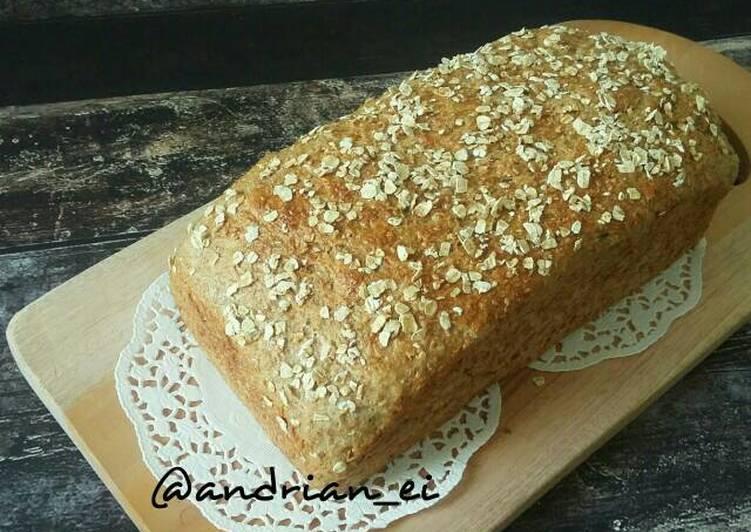 Roti Tawar Gandum Tanpa Telur Tanpa Butter