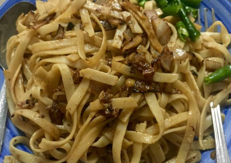 Recipe: Tasty Fried Fettuccini with perencah nasi goreng