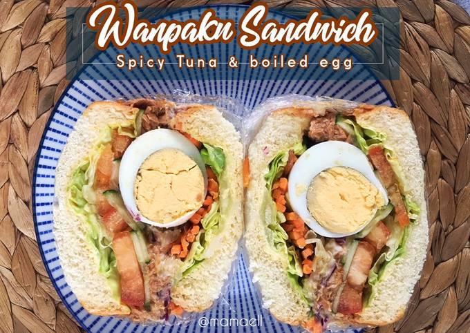 Wanpaku Sandwich mamaell : Spicy Tuna & boiled egg
