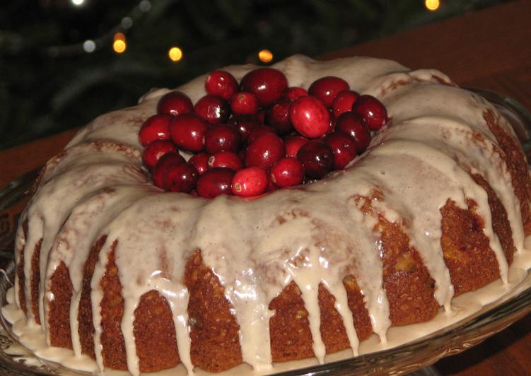 How to Prepare Award-winning Apple,cranberry,Bundt Cake(Egg free)