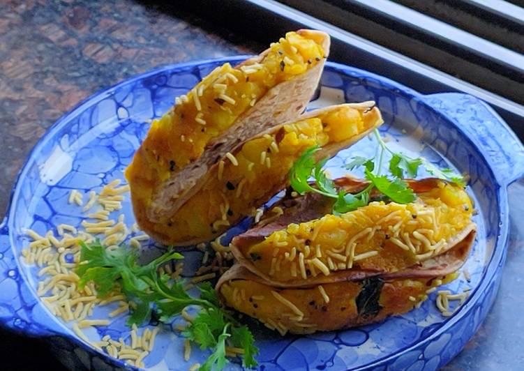 Leftovers roti Tacos
