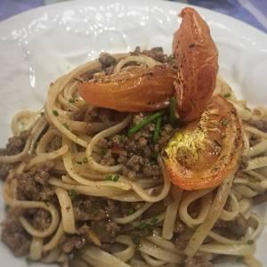 Espagueti con Carne &Tomate Confitado #lacocinadegiri #espagueti #tomate