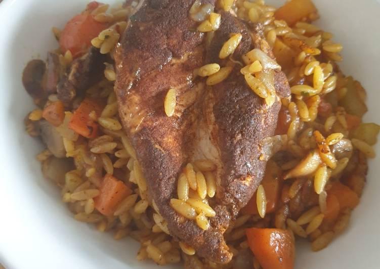 Mediterranean Chicken Orzo
