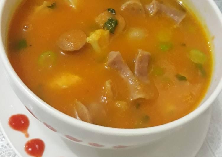Sup Krim Wortel Kembang Sosis