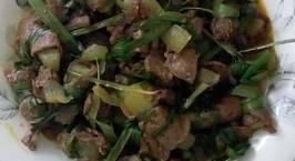 Hình ảnh món Bò lát quấn bí lá dứa hoặc ngò gai (chay)