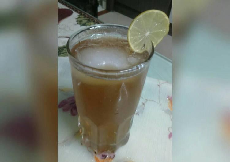 Steps to Prepare Super Quick Homemade Lemon icetea #summers