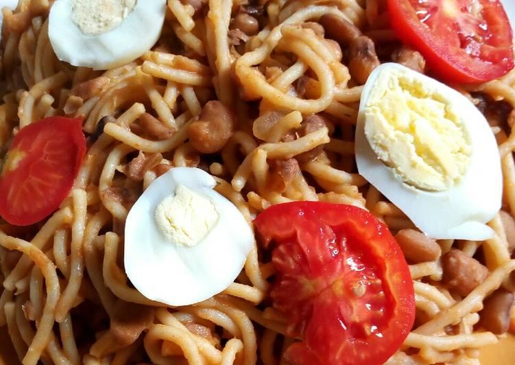 Jollof Spaghetti and Beans recipe main photo