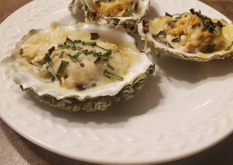 Brad's oyster Rockefeller
