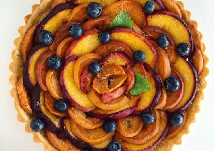 Set to Prepare Super Quick Homemade Apricot & Peach Tart