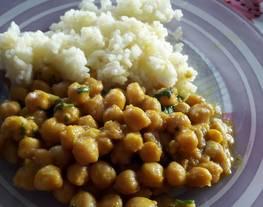 Curry de garbanzos (receta rápida)