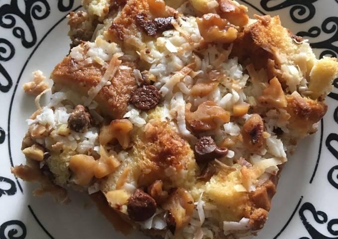 Coconut Walnut Bread Pudding