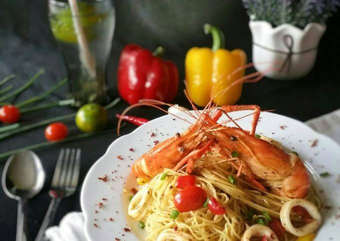 Seafood Aglio Olio #DaporAzahZara