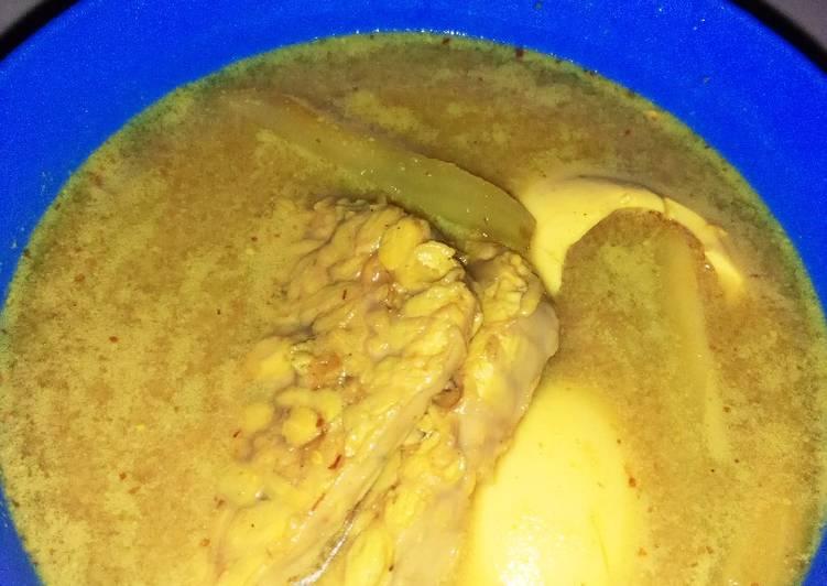 Opor Telur Tempe Labu Siam