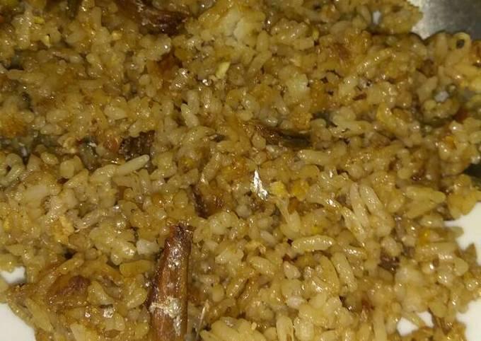 Nasi goreng ikan asin + sambel terasi