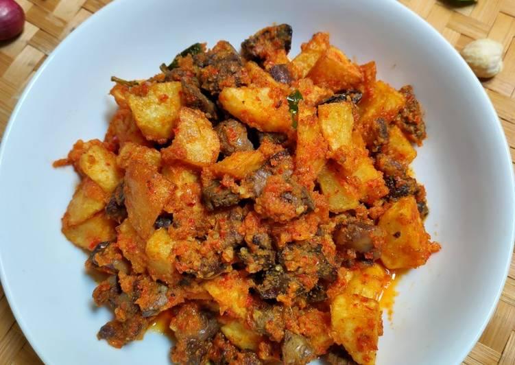 Sambel goreng ati ampela kentang
