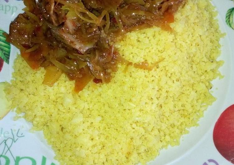 Dambun shinkafa and vegetables soup