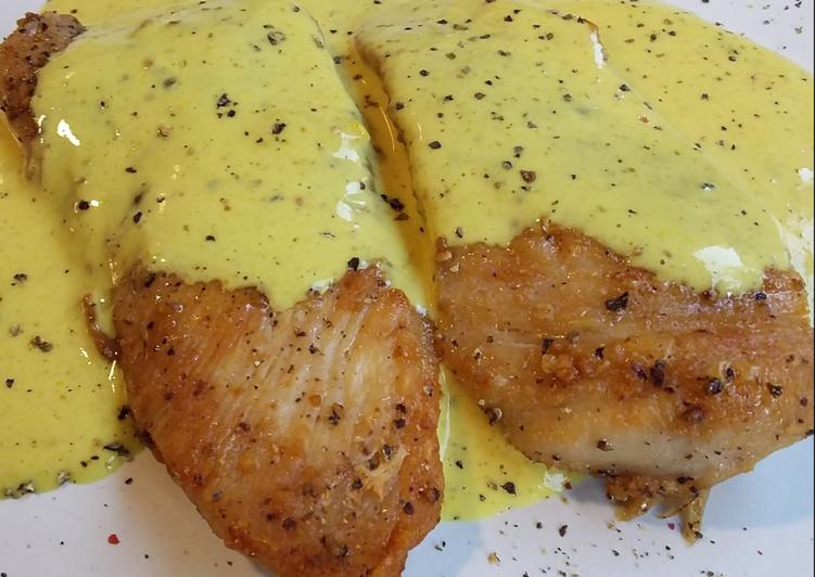 Pollo con salsa de mostaza   Pollo en salsa, Salsa de