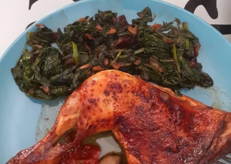 Receta más fácil: Delicioso Pollo al horno con verduritas y salsa teriyaki