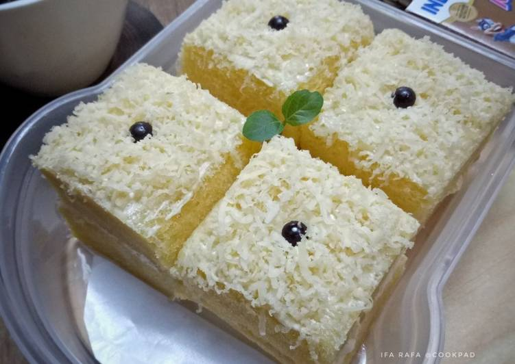 Resep Bolu Keju Kukus untuk bekal si kecil (Tanpa Sp, Bp & Soda Kue) yang Enak Banget