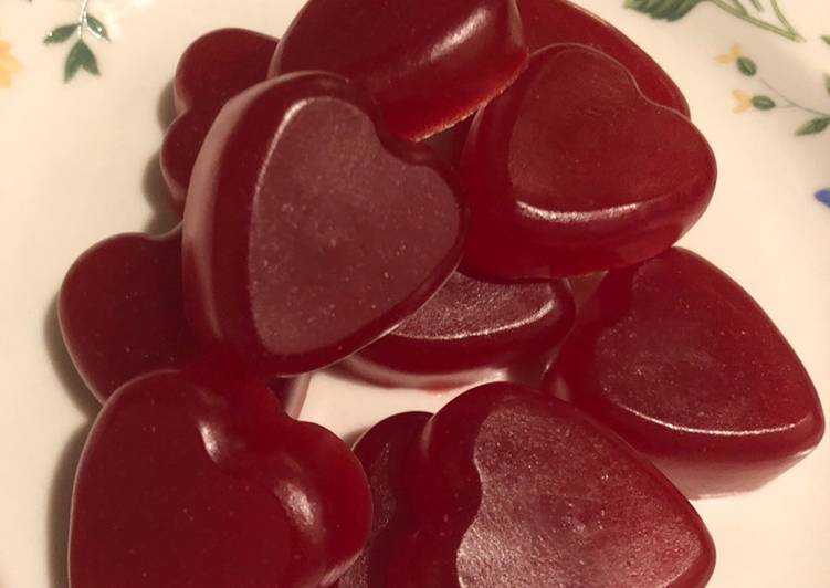 Steps to Make Homemade Gummy Heart ❤️ for Valentine's Day