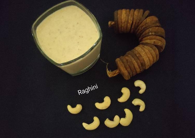 How to Make Homemade Anjeer alomnd cashew milkshake(fig dryfruits milkshake)