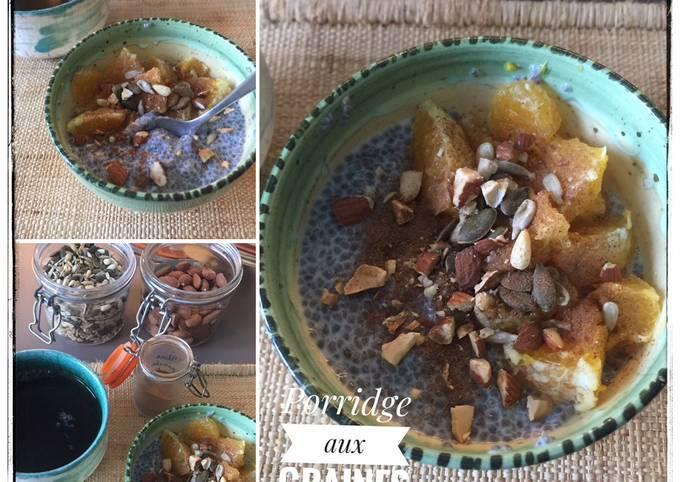 Porridge graines de chia