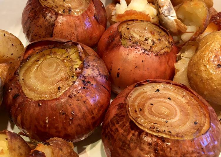 Recipe of Super Quick Homemade Whole Roasted Onions