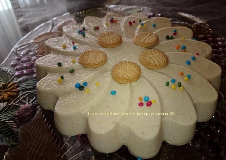 Cuajada light de coco y mini galletas María
