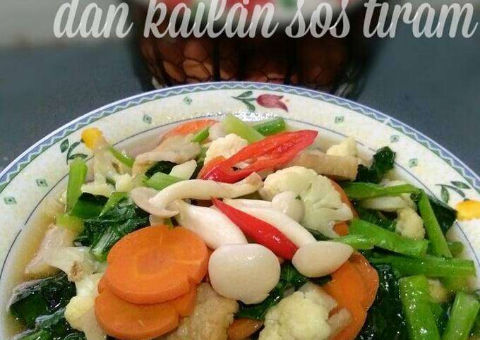 Cendawan putih dan kailan sos tiram #fayekusairi