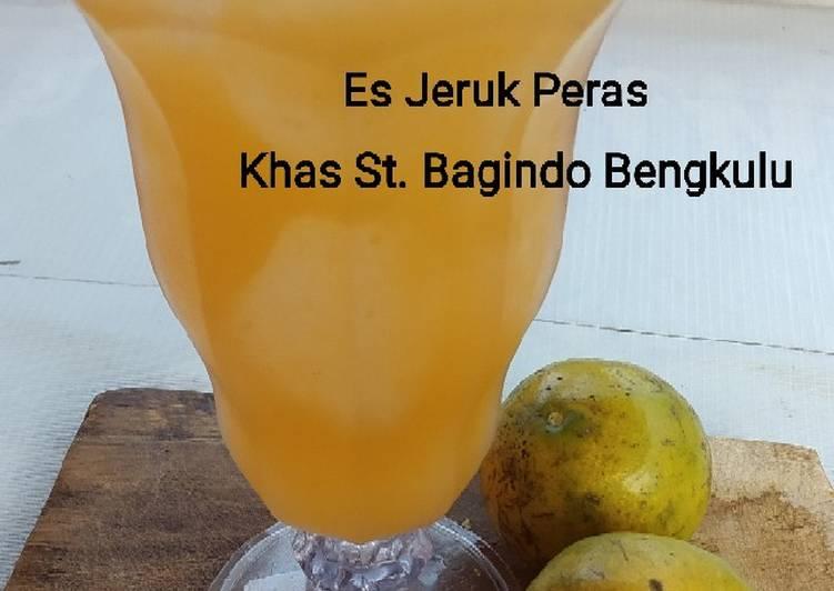 Es Jeruk Peras Khas St Bagindo Bengkulu