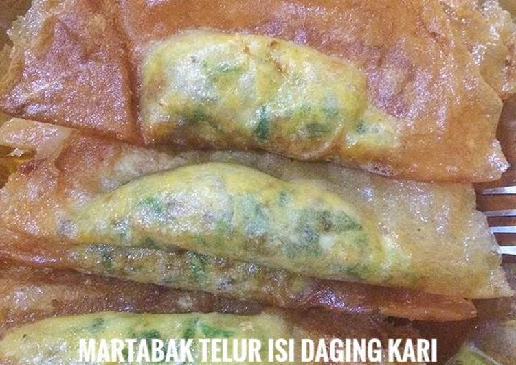 Martabak Telur Isi Daging Kari #BikinRamadanBerkesan