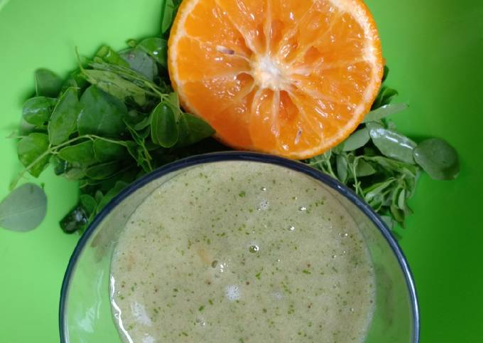 Smoothies jeruk kelor gula darah, sehat otak, resep anak pintar