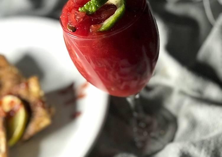 Watermelon/strawberry smoothie