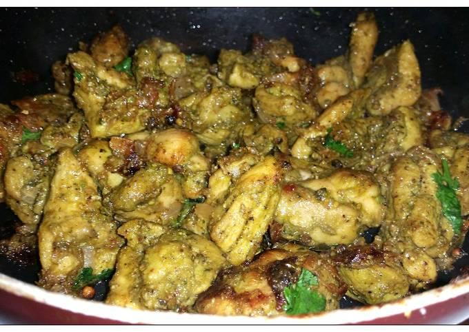 Green pepper chicken roast