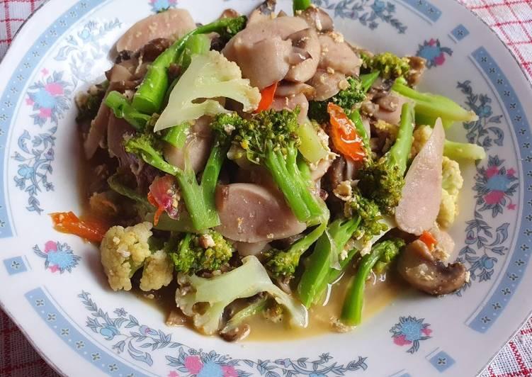Ca Brojasis (Brokoli Jamur Sosis)