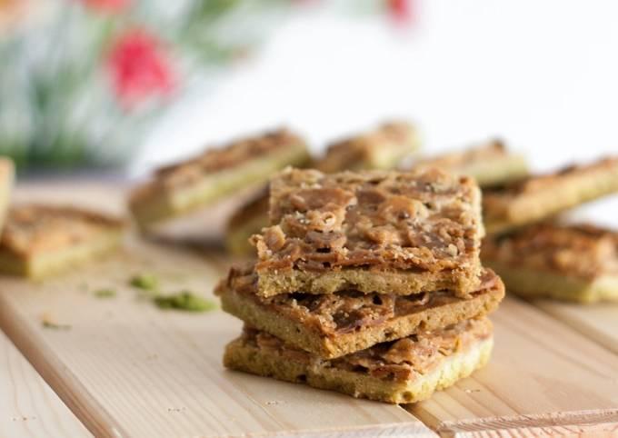 Der einfachste Weg Um Schnell Gewinnende Florentiner-Kekse mit Matcha zuzubereiten