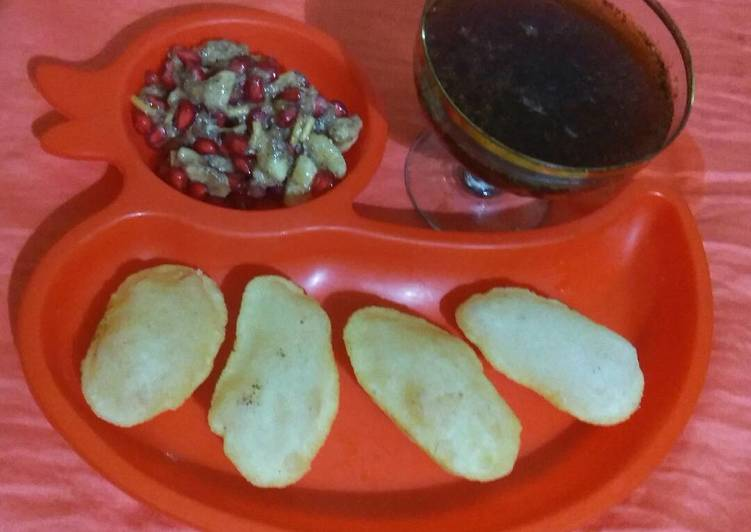 Living Greener for Good Health By Eating Superfoods Golgappa with cold drink pani