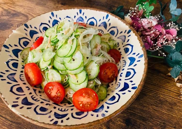 Recipe of Quick Tuna Cucumber Salad