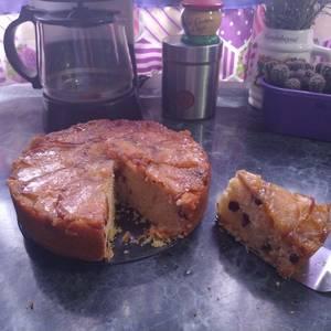 Torta de manzana y arándanos invertida!