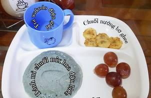 #32 | Bánh mì chuối mix hoa đậu biếc & Chuối nướng bơ ghee